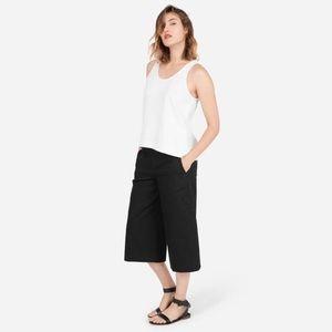 Everlane Black Wide Leg Culottes